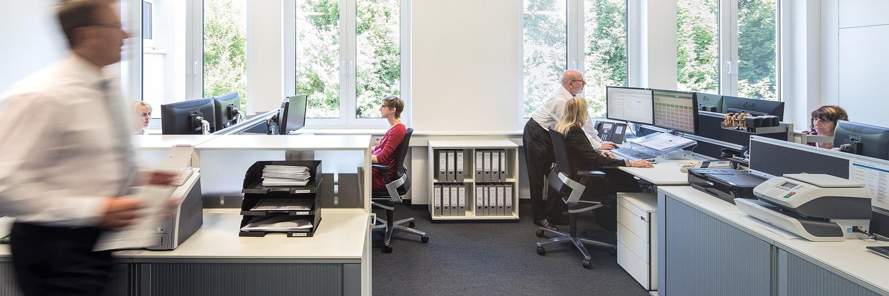 Büroräume der MERGET + PARTNER Steuerberater, Rechtsanwälte, Wirtschaftsprüfer mit Sitz in Aschaffenburg